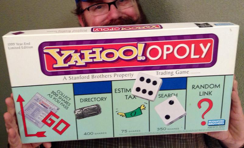 """Photo d'une version du jeux monopoly """"Yahoo!opoly"""""""