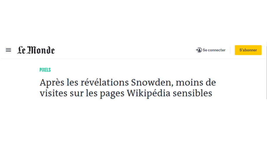 Article du journal Le Monde