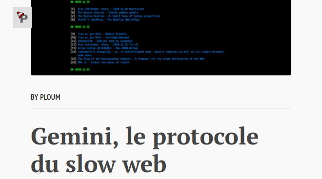 Gemini, le protocole du slow web