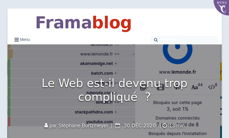 Le Web est-il devenu trop compliqué
