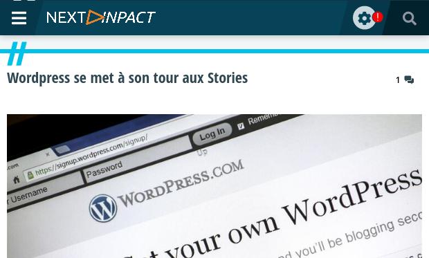 Wordpress se met à son tour aux Stories