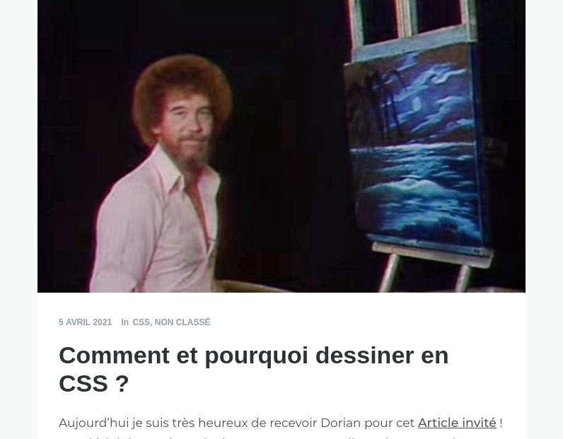 Comment et pourquoi dessiner en CSS