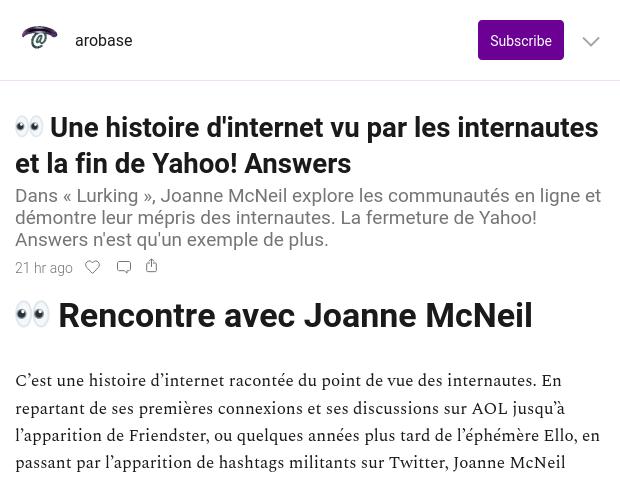 Une histoire d'internet vu par les internautes et la fin de Yahoo Answers