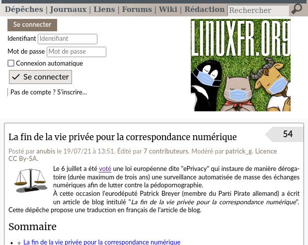 La fin de la vie privée pour la correspondance numérique - LinuxFr org